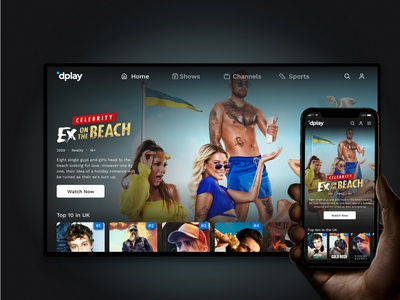 dplay platform redesign tv app mobile video ui vod product design