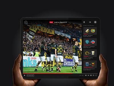 dplay sport sport player video ui vod product design