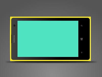 Windows Phone vector illustration sketch app