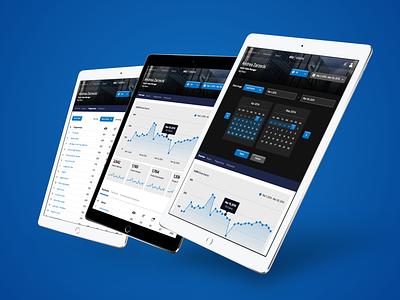 Sky Vision Sales Team Dashboard data product design web design responsive ui