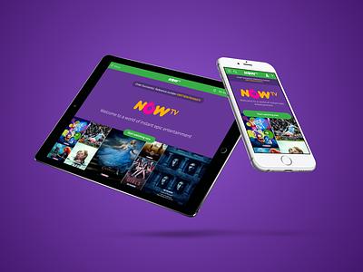 NOW TV Welcome Screen web design responsive design ui design digital product vod