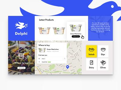 Delphi Brandboard packaging website design ui brand