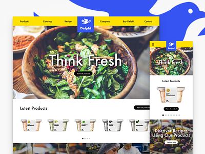 Delphi Responsive site packaging website design ui brand