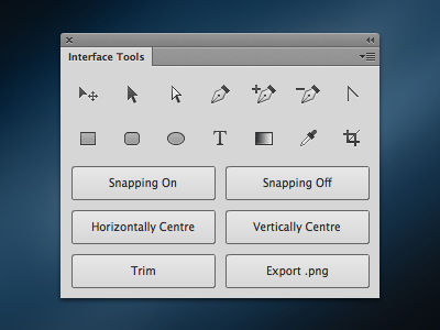Interface Tools Photoshop Plugin photoshop interface ui design pixel snapping export panel elliot utility cc cs6