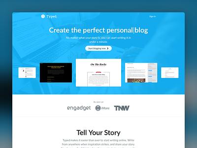 Typed marketing page marketing blog typed realmac