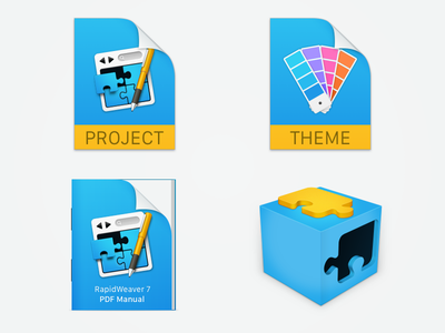 RapidWeaver 7 Icons project plugin themes manual icons icon realmac realmacsoftware rapidweaver