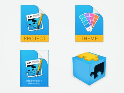 RapidWeaver 7 Icons project plugin themes manual icons icon realmac realmacsoftware rapidweaver