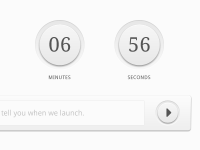 Countdown Elements buttons countdown timer theme forest seconds form submit elements minutes holding page landing page ui