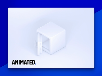 Animated safe icon vault bright light security white icon safe animated
