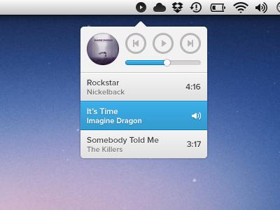 ♫ bar play next ui app music player menu previous slider sound