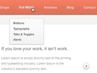 Header header drop down menu dividers gif wordpress theme