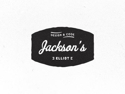 Design & Code logo brand old worn identity jackson elliot design code lettering
