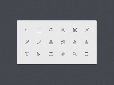 Some Photoshop Icons photoshop icon icons elliot move marquee crop pointer zoom picker fill tool text tools