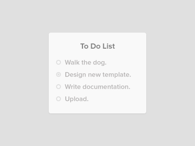 To Do List [Code]