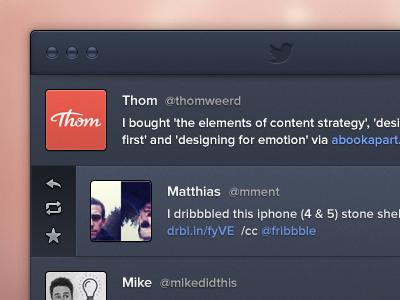 Darth Twitter icon mac twitter app application dark darth retweet favourite reply ui user interface avatar blue elliot