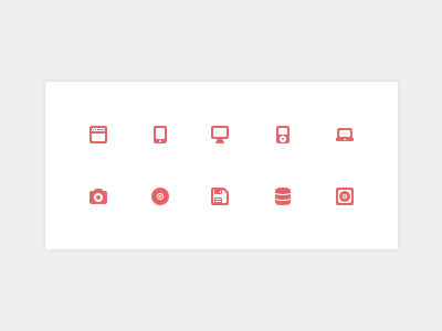Device & Storage Icons