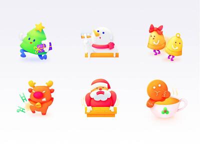 SA9527 - Christmas Icon Design 02 ux ui banner china style design illustration icon sa9527