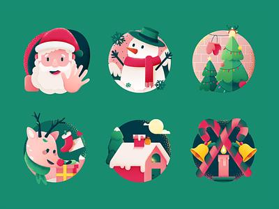 SA9527 - Christmas Icon Design 04 china creative style design illustration icon sa9527