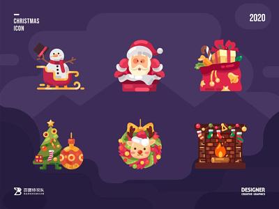 SA9527 - Christmas Icon Design 06 building ui banner china style design illustration icon sa9527