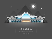 China Railway Station - WuHan (Night)
