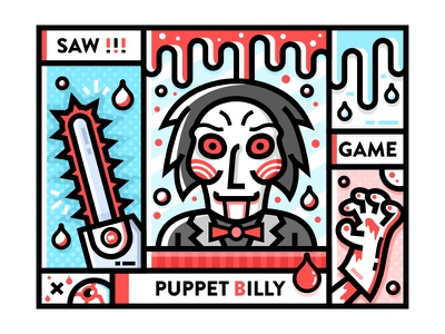 SA9527- SAW ! billy sa9527 game saw homicidal maniac