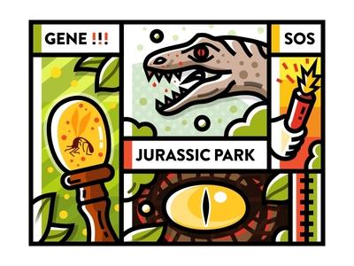 Sa9527-Movie & Jurassic Park illustration gene dinosaur jurassic park movie sa9527