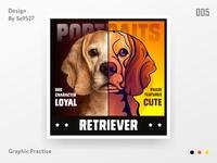 DOG PORTRAITS - RETEIEVER
