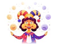 SA9527 - Happy and angry clown