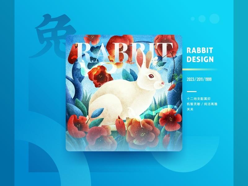 Chinese Zodiac Collection - Rabbit Design branding graphical rabbit collection chinese zodiac china style design illustration sa9527