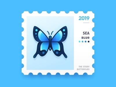 SA9527 - Butterfly Story (Sea Blue)02