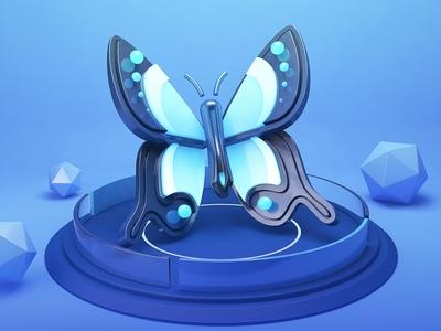 SA9527 - Butterfly Story (Sea Blue)03