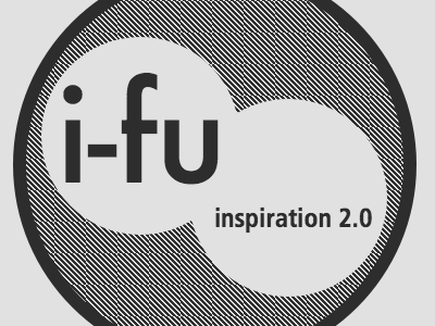 Inspiration-fu logo mono pixelated