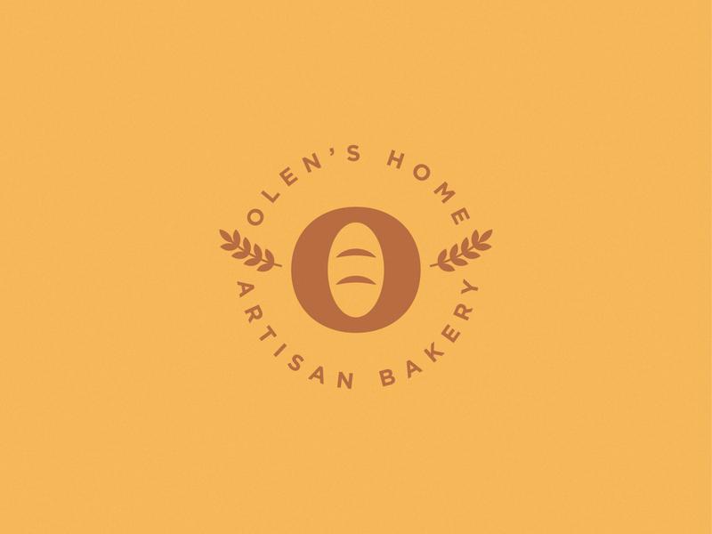 Olens' Home - Artisan Bakery vector type logodesign branding food bread bakery logo bakery icon logo graphicdesign design brand