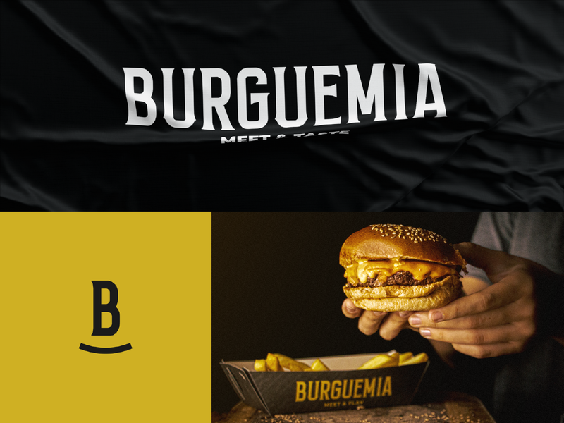Burguemia Meet & Taste graphicdesign type logo burger restaurant visual identity food logodesign branding design brand