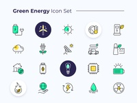 Green Energy Icon Set line monochromatic divi theme nature divi web design ux ui illustration renewable energy environment logo energy green energy icons icons pack icon design icon set iconography
