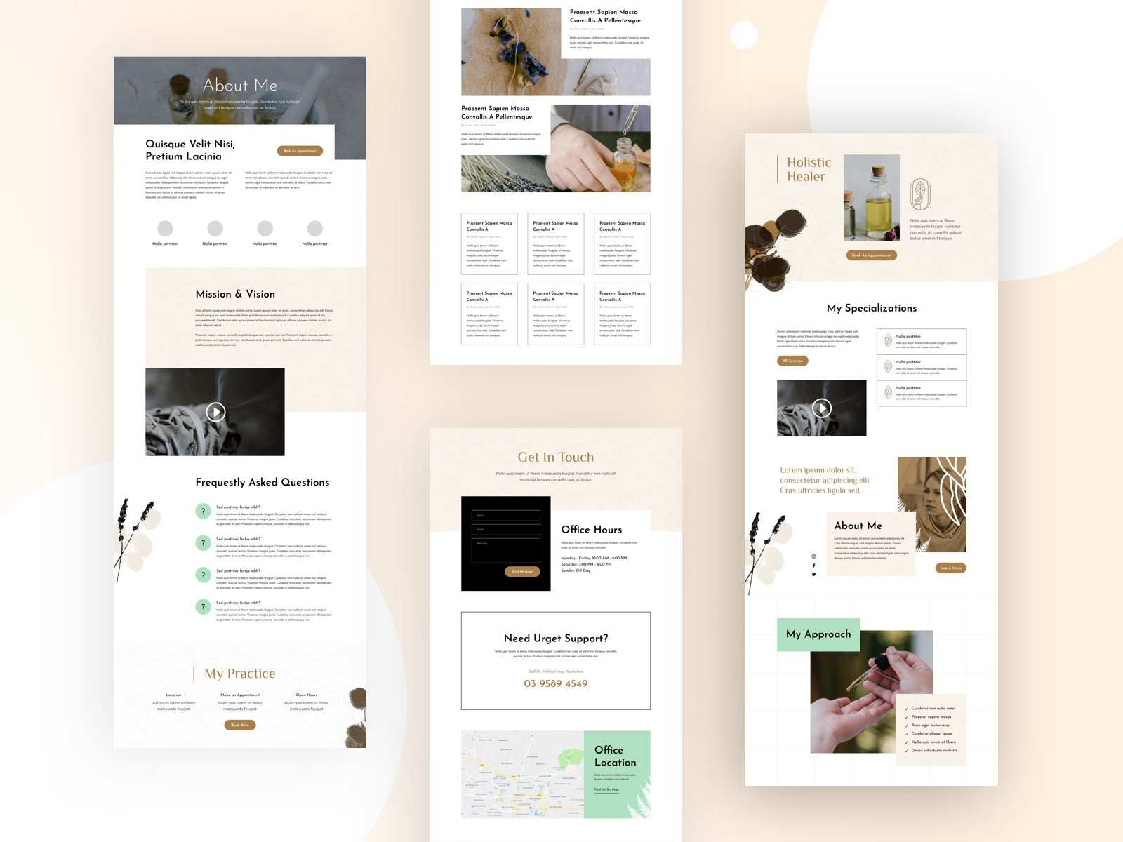 Holistic Healer Website Design For Divi by Sayeed Ahmad for Elegant Themes  on Dribbble