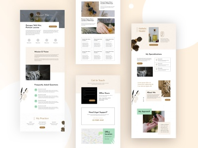Holistic Healer Website Design For Divi desing alternative medicine mental health acupuncture meditation lifestyle health healing holistic healer service page about us page blog page blog about page contact page web design homepage divi landing page website