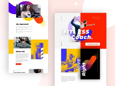 Fitness Coach Landing Page Design for Divi ui wordpress design weight loss personal trainer fit coach motivation fitfam health training lifestyle gym workout fitness club fitness web design divi landing page website