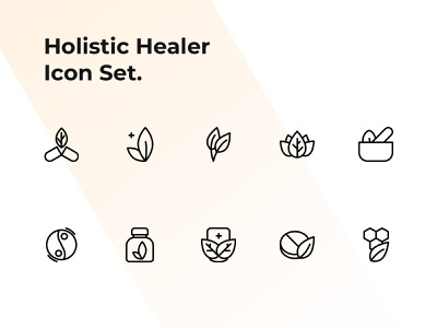 Holistic Healer Icon Set logo icon design iconography icon set icons icon health meditation lifestyle healing holistic healer alternative medicine