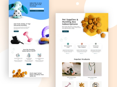 Pet Shop Landing Page Design for Divi dog food petshop store petstore pet shop ecommerce wordpress design homepage business web design ux ui divi landing page website