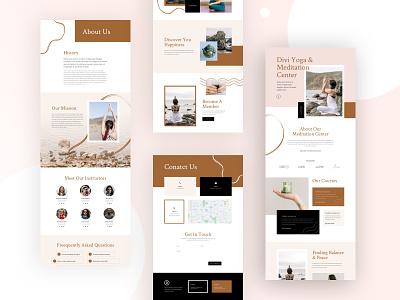 Meditation Center Website Design for Divi training education mental health fitness health lifestyle yoga meditation illustration design homepage business web design divi ux ui landing page website
