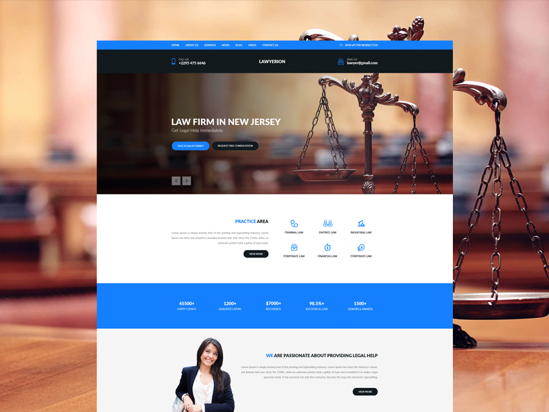 Law Firm Web Template Design by Sayeed Ahmad - Dribbble