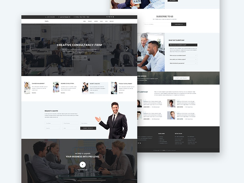 Gago business consulting and finance website template by sayeed gago business consulting and finance website template by sayeed ahmad dribbble accmission Choice Image