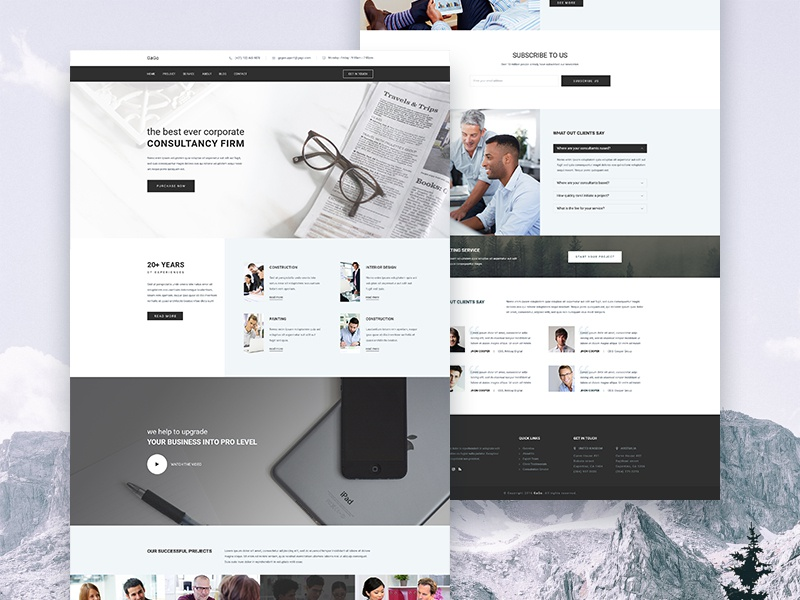 gago business consulting and finance website template by sayeed