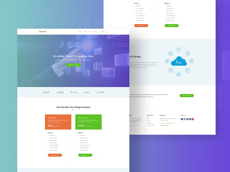 Landing Page For Web Hosting Company By Sayeed Ahmad Dribbble