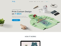 Shirtly landing page redesign concept