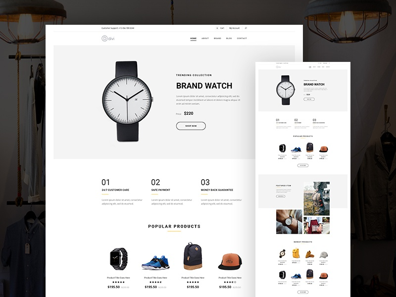 elegant themes projects online store divi layout pack dribbble