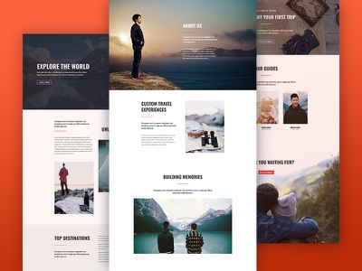 Free Divi Layout Pack for Travel Websites agency layout pack travel agency travel package divi package contact about landing page website travel