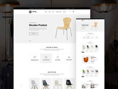 Furniture Store Ecommerce Website Landing Page