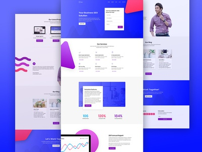 SEO Agency Website Design for Divi online marketing homepage consultation marketing seo agency agency corporate business web design website seo landing page